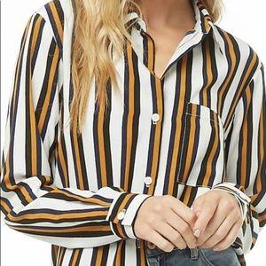 Oversized Tunic Striped Shirt